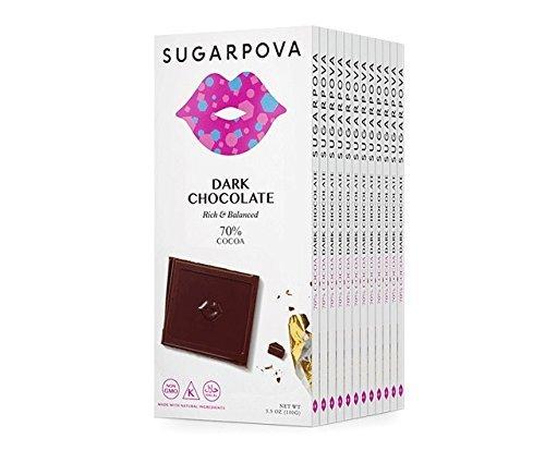 Sugarpova 70% Cocoa Dark Chocolate - 12 Count Case