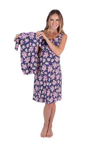 - Baby Be Mine Maternity/Nursing Nightgown & Matching Baby Layette Set, Newborn, Nightdress, (Small pre pre Pregnancy 4-6, Eve)