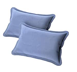 "BEVI Microfibre 144 TC Pillow Cover (blue_18""x28"")"