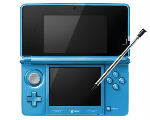 nintendo 3ds console light blue japanese imported version only plays japanese version games. Black Bedroom Furniture Sets. Home Design Ideas