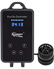 hygger Quiet Magnetic Aquarium Powerhead, 1600GPH DC 12V Wave Maker with Digital Led Display Controller, Submersible Water Inverter Circulation Pump for Fish Tank 3-25 Gallon