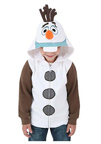 Big Boys' Frozen I Am Olaf Hoodie Costume Size 5/6