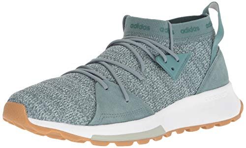 adidas Women's Quesa Running Shoe, raw Green/ash Silver, 5.5 M US