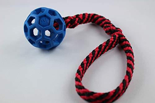 Gitterball mit Zergel/Schlaufe - Zerrspielzeug