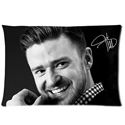 Justin Timberlake Hot Singer Superstar Custom Square Zippered Pillowcase Cover Standard Size 20x30 Two Sides