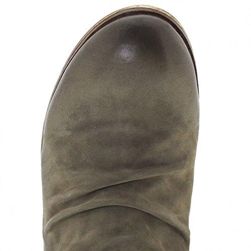 Fb Mode Laarzen As98 401216 Militare Lederen Enkellaars Voor Mannen Groene Chelsea Boot Militare