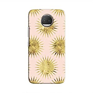 Cover It Up - Gold Pink Star Moto G5s Plus Hard Case