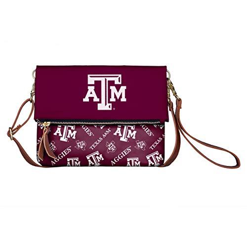 FOCO NCAA Texas A&M Aggies Womens Printed Collection Foldover Tote Bagprinted Collection Foldover Tote Bag, Team Color, One Size