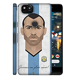 ColorKing Football Masherano Argentina 02 Multicolor shell case cover for Google Pixel 2