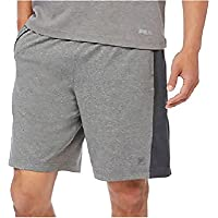 Fila Mens Active Atheltic Wicking Pantalones Cortos, color gris/gris oscuro, Medium