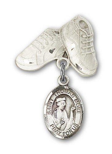 Icecarats Créatrice De Bijoux En Argent Sterling St. Thomas Plus De Charme Chaussures De Bébé Broches 1 X 5/8