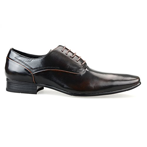 Mm / One Heren Veterschoenen Oxford Derby Schoenen Intorechato Collectie Mpt125-3 Donkerbruin