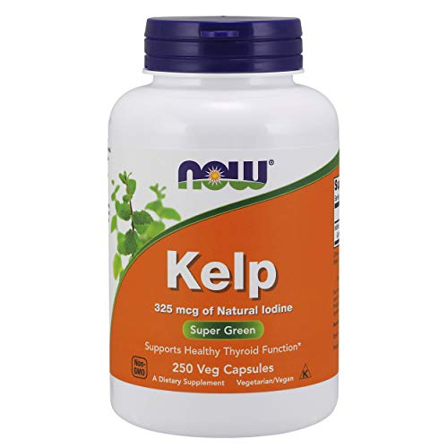NOW Supplements, Kelp 325 mcg, Natural Iodine, 250 Veg Capsules