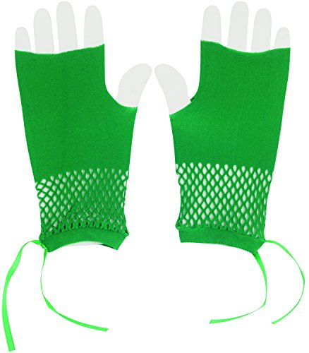 Patrick Star Costume Shorts (Star Power Irish St. Patrick's Day Short Fingerless Gloves, Green, One Size)