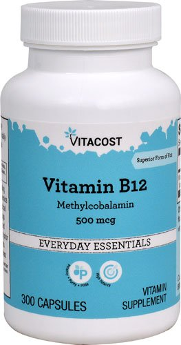 Vitacost Vitamin B-12 Methylcobalamin -- 500 mcg - 300 Capsules - 3PC by Vitacost Brand