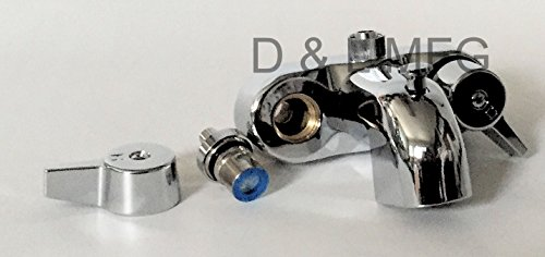 Claw Foot Add A Shower with 60'' D Rod and Faucet with Ceramic Cartridges and Shower Head by D&L (Image #6)