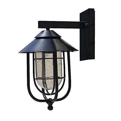 ヴィンテージウォールライト工業用照明レトロメタルウォールランプ屋内ホームライト器具ガラスシェードカバー付き[エネルギークラスA +] B07TTHG8CX