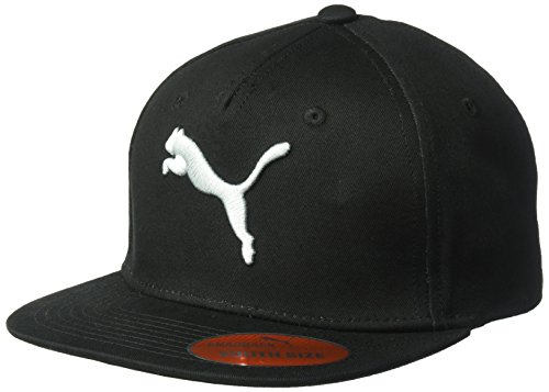 PUMA Kids' Big Cap and Flatbill Snapback Hats, Black/Grey, Youth