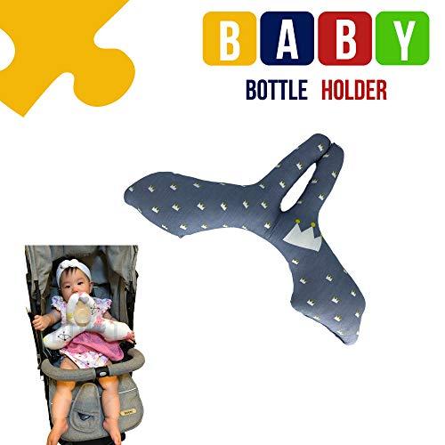 Little J Baby Bottle Holder Helper Easy Feeding Hands Free (Crown)