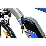 Argento-Bicicletta-elettrica-Alpha-Citt-Uomo-Grigia-e-Blu-taglia-unica