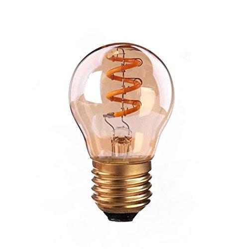 Century 3 Light Pendant - Century Light - 3W Flexible G45 LED Vintage Squirrel Cage Bulb, E26 Base LED Filament Light Bulb,2200K Ultra Warm White Decorative Lamp 140LM, 20Watt Equivalent, CRI> 90,1Pack