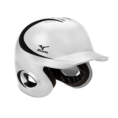 Mizuno MBH250 MVP G2 OSFM Batter's Helmet (White/Black, 7 3/8