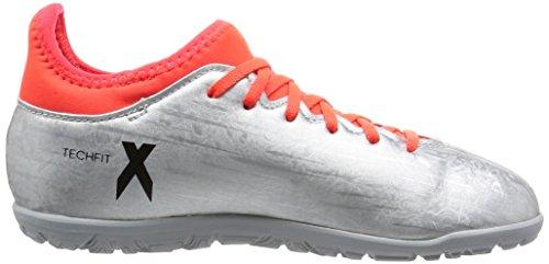 adidas X 16.3 Tf J, Botas de Fútbol para Niños Plata (Plamet / Negbas / Rojsol)