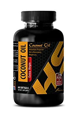 Anti fungal supplements - COCONUT OIL EXTRA VIRGIN - Coconut essential oil - 1 Bottle 60 Softgels