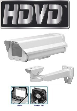- HDVDTM CH-605HB-WM Heavy Duty Outdoor CCTV Camera Housing, Built in Heater/Blower, 24VAC