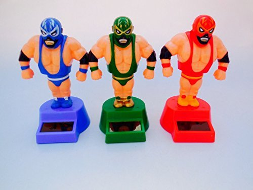 Solar Dancing Powered Lucha Libre bundle Green, Red and Blue Color 79