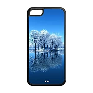 diy zhengUnique Design Snowing and Frozen Winter Pattern Hard Back Case Cover Shell for iphone 5c