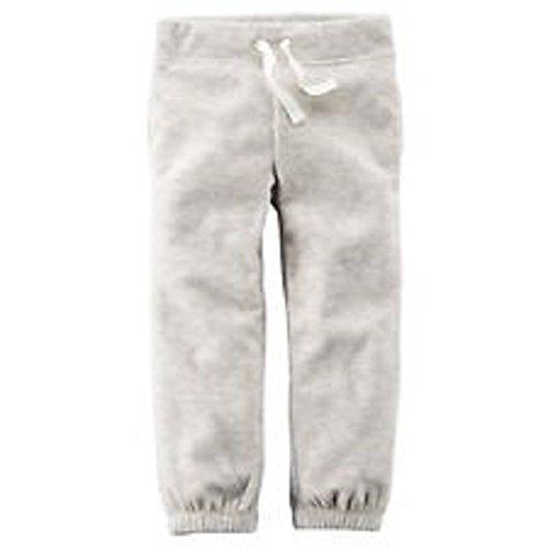 Name Carter's Carters Girls Pull-On Grey Fleece Joggers (24 (Carters Fleece Sweatpant)