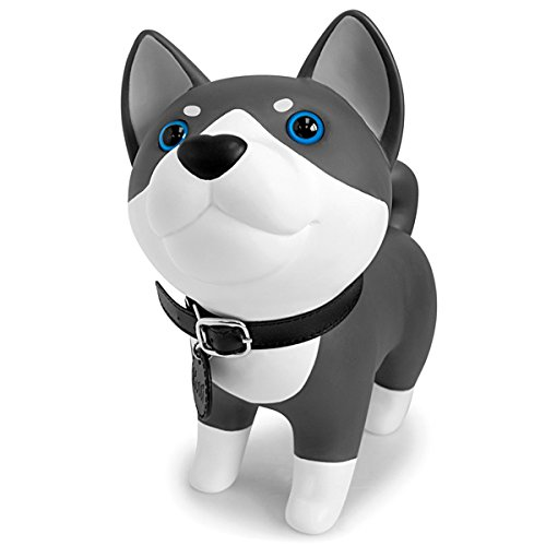 DomeStar Cute Dog Bank, Husky Coin Bank Kids Toy Bank Doggy Puppy Piggy Bank for Girls Boys ()