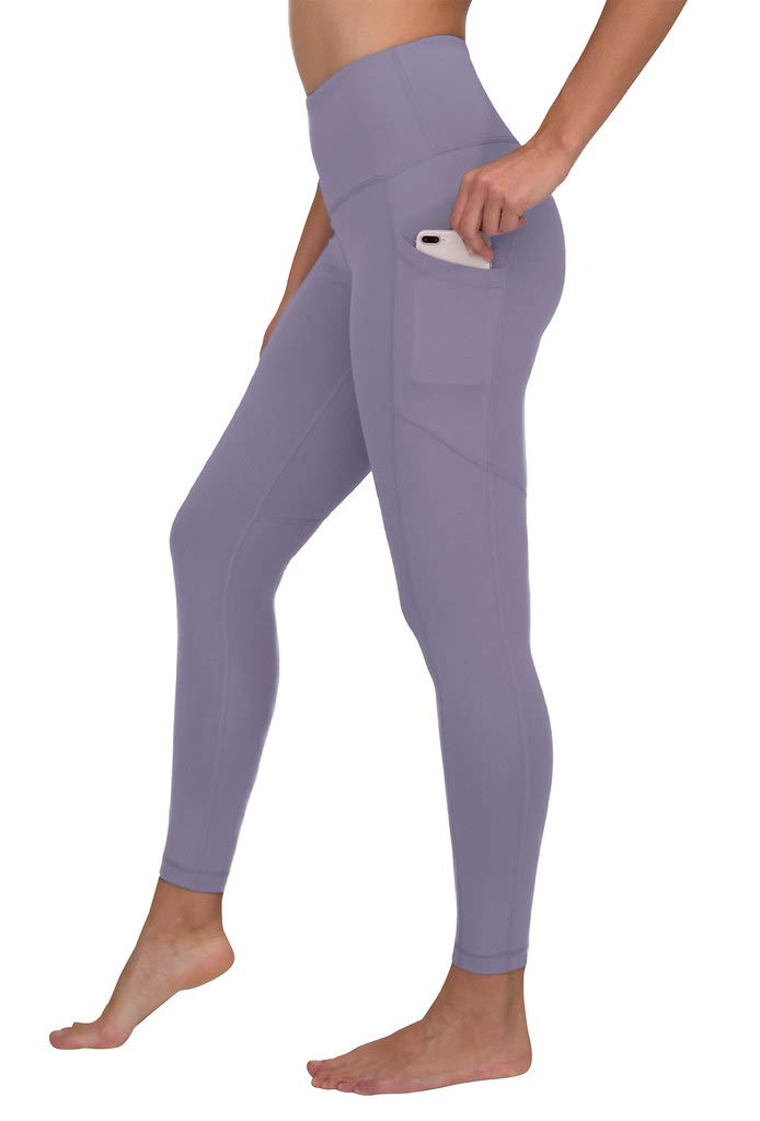 90 Degree By Reflex Women's Power Flex Yoga Pants - Plum Frost - Medium by 90 Degree By Reflex