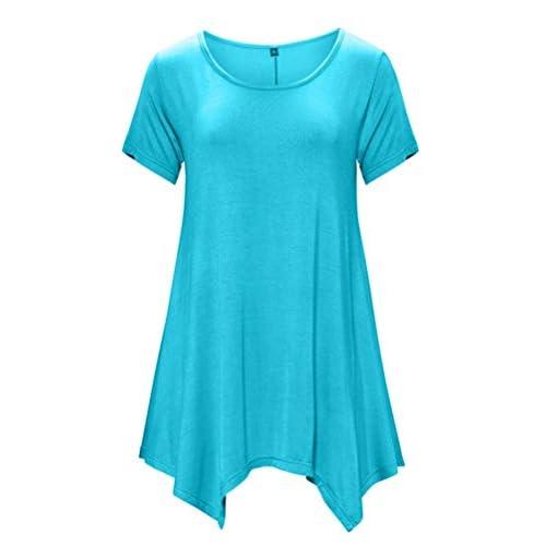New DB MOON Womens Tunic Tops Short Sleeve T Shirts Dress (S-XXXL)