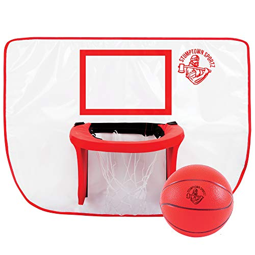 Stumptown Sportz Trampoline Basketball Hoop with 3 Basketballs | Soft Material, Safe for Kids | Durable for Outdoor Play by Stumptown Sportz