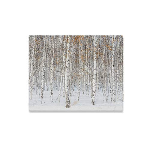 Jnseff Wall Art Painting Russian Winter Landscape White Birch Trees Prints On Canvas The Picture Landscape Pictures Oil for Home Modern Decoration Print Decor for Living Room