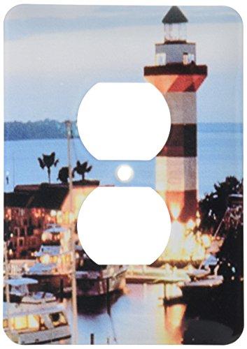 3dRose LLC lsp_61725_6 Harbour Town Lighthouse At Hilton Head Island At Dusk 2 Plug Outlet - Island Outlets Hilton Head