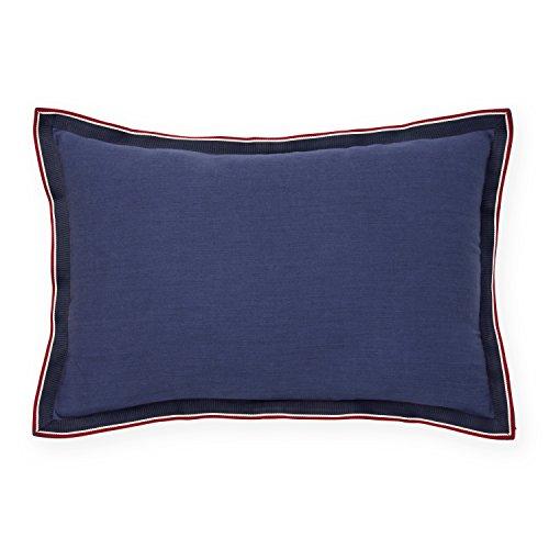 Tommy Hilfiger Applique Flange Grosgrain Dec Pillow