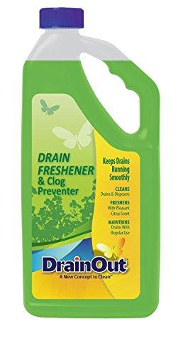 (DrainOUT Drain Freshener & Clog Preventer, 32 Fl. Oz. Bottle, 6 Pack)