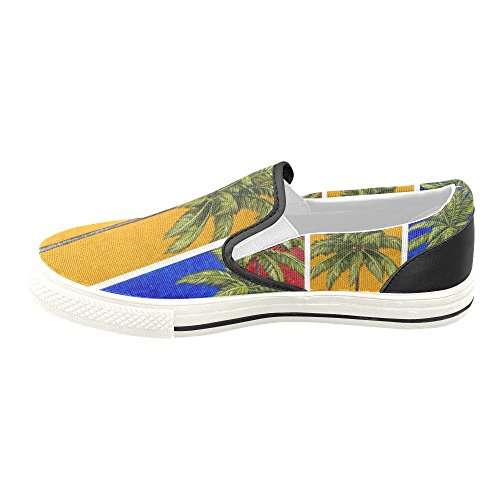 D-story Custom Sneaker Palm Tree Donne Insolite Scarpe Di Tela Slip-on (modello 019)