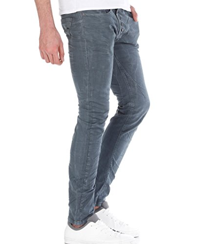 Red Bridge Herren Straight Cut Jeans Röhrenjeans Hose Grau W30 L32