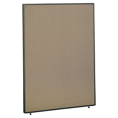 Tan Fabric Taupe Trim Panels - cubicles.com Office Partition Walls - ProSeries 66Hx48W Panel Dividers