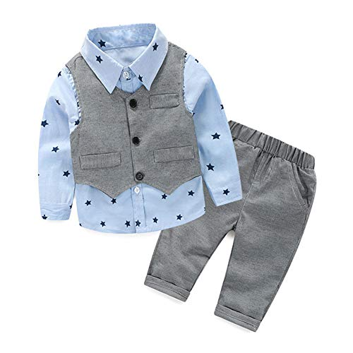 (Baby Boy Sets 5-10 Months Toddler Outfit Children Clothing Size 70 Light Grey)
