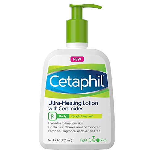 Cetaphil Ultra-Healing Lotion with Ceramides for Dry, Rough, Flaky Skin, 16 oz. Bottle (Best Facial Moisturizer For Very Dry Flaky Skin)