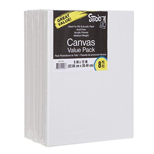 Darice Studio 71 Medium Weight Stretched Canvas Value Pack - 9