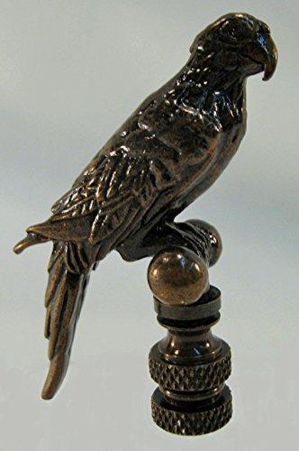 Bird on a Perch Antique Brass Lamp Finial