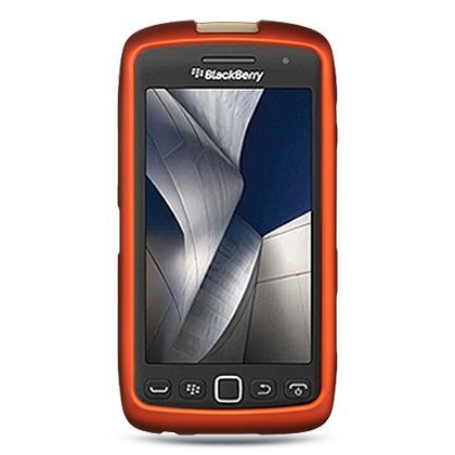 Luxmo CRBB9570OR Unique Durable Rubberized Crystal Case for BlackBerry Torch 9850/9860/Monza/Storm 3 - Retail Packaging - Orange -