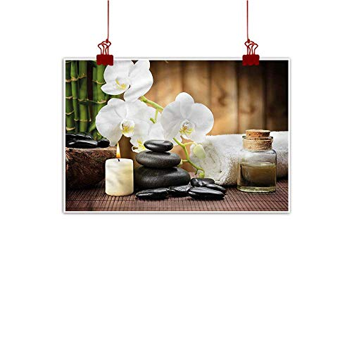 Anzhutwelve Wall Painting Prints Spa,Asian Zen Stones Flowers 36