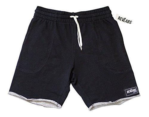 RevLabs Attire- Men's Cut Off Sweat Shorts in Black – DiZiSports Store